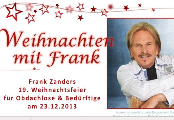 Weihnachtsfest für Obdachlose und arme Menschen im Estrel Hotel Berlin by Frank Zander
